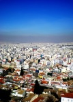 A sunny winter's day view over the city of Athens, Greece