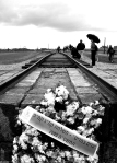 A Jewish memorial at Auschwitz Concentration Camp, Poland