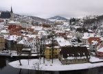 The view from the castle in Cesky Krumlov, Czech Republic