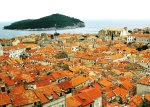 A sea of Mediterranean rooftops in Dubrovnik, Croatia