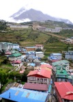 The town of Namche Bazaar in the Himalayas, Nepal
