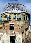 The Atomic Bomb Dome in the centre of Hiroshima, Japan