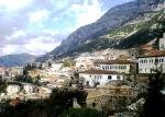 A view from the castle of the antique market town Kruja, Albania