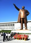 A giant bronze statue of Kim Il-sung in Pyongyang, North Korea