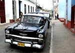 A classic American car on the streets of Santiago, Cuba