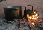 Cooking dinner with Bedouins in Wadi Rum desert, Jordan